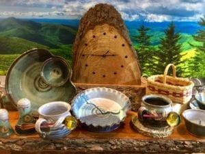 Handmade wooden clock asheville